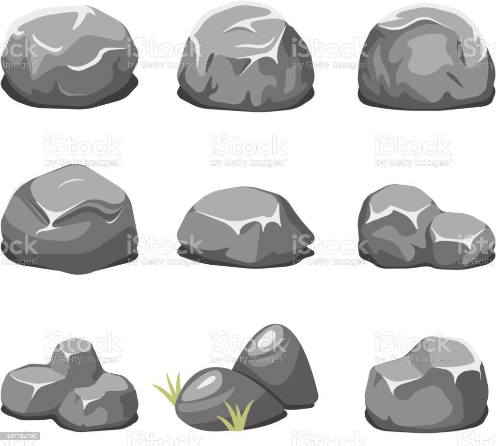 Pierres et rochers dessin vectoriel stock vecteur libres - Dessin rocher ...