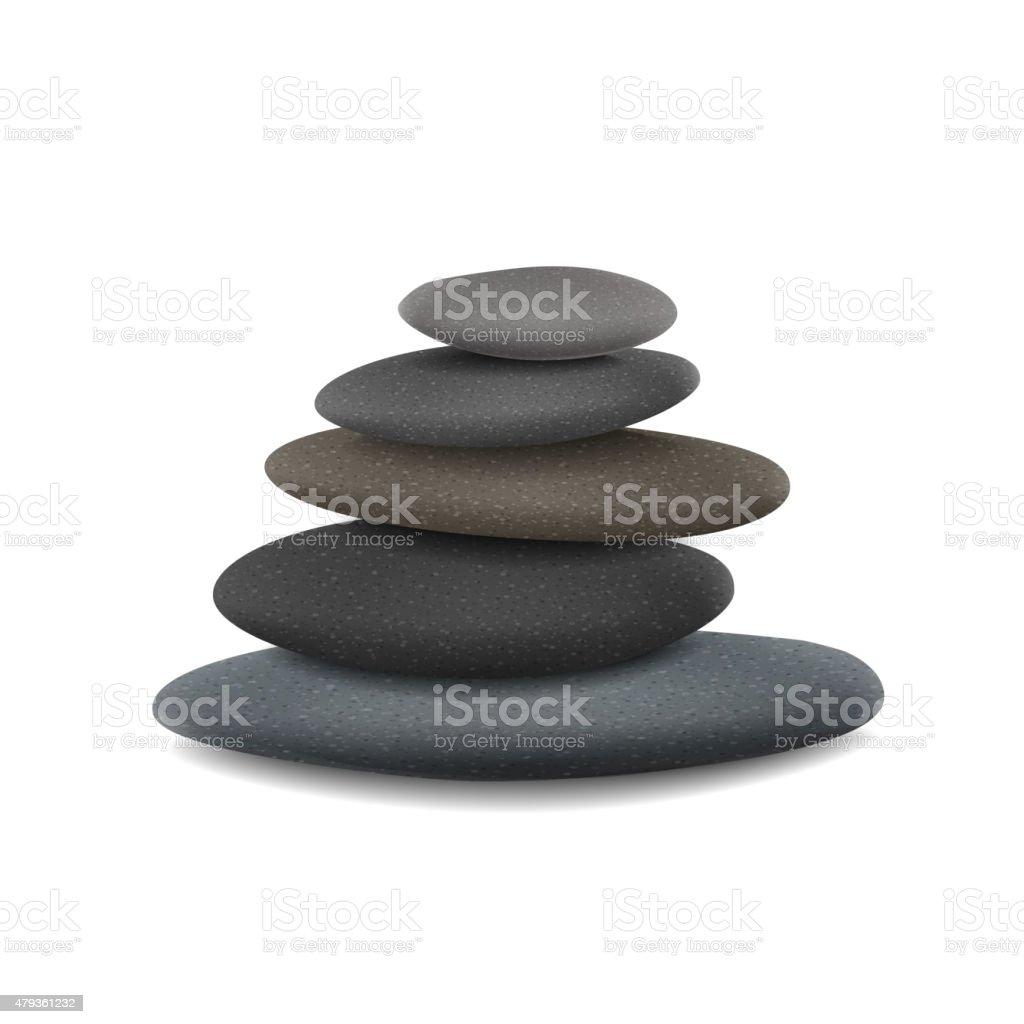 stones in balanced pile vector art illustration