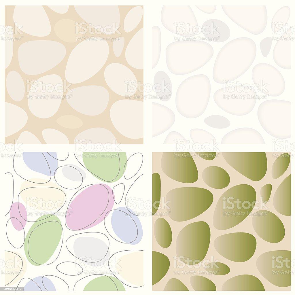Stones Seamless Pattern Set vector art illustration
