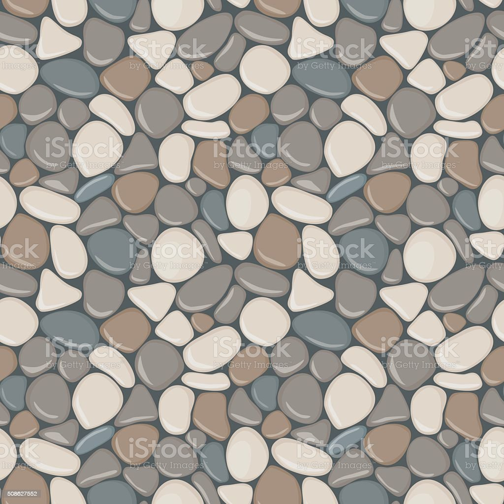 Stones seamless pattern. vector art illustration