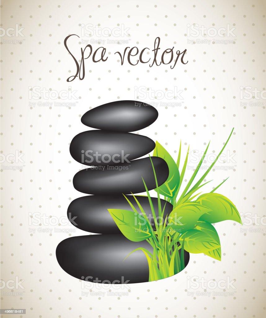 stones spa vector art illustration