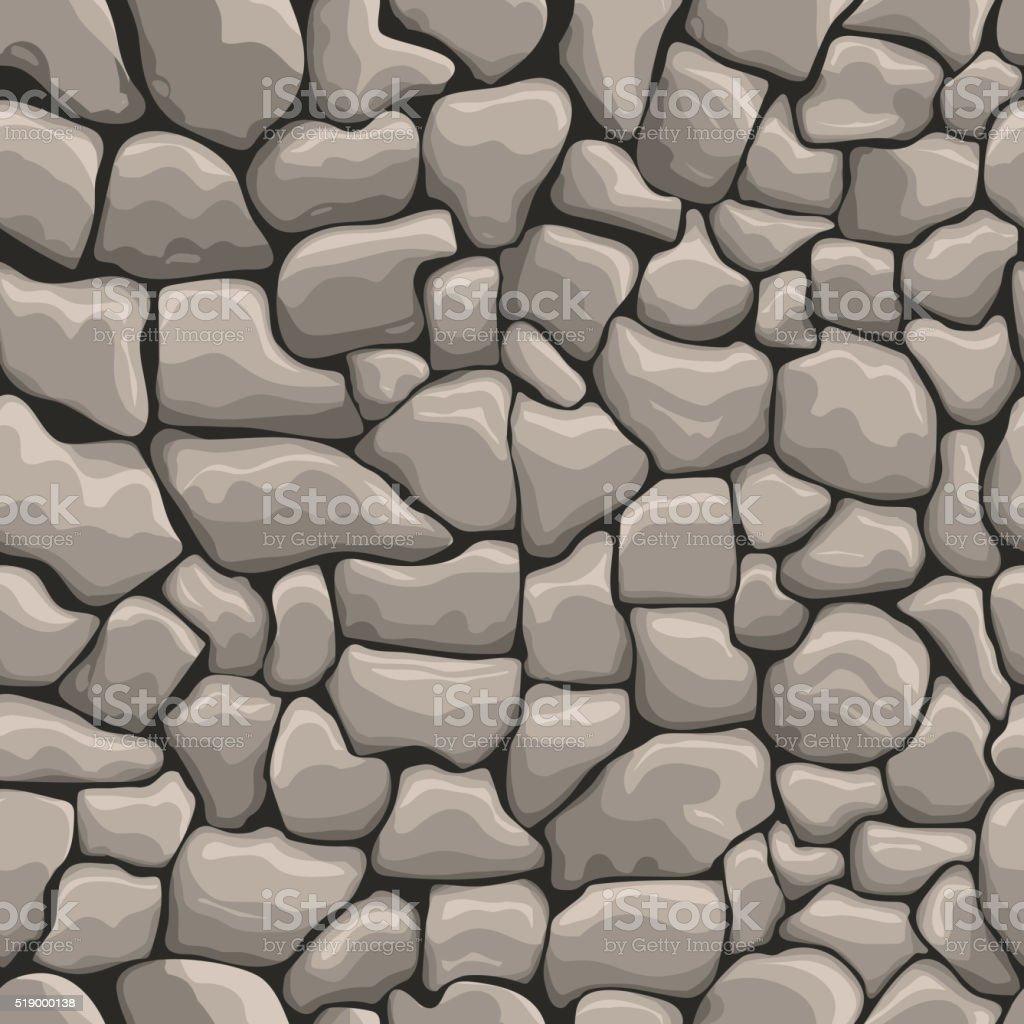 stones wall seamless texture vector art illustration