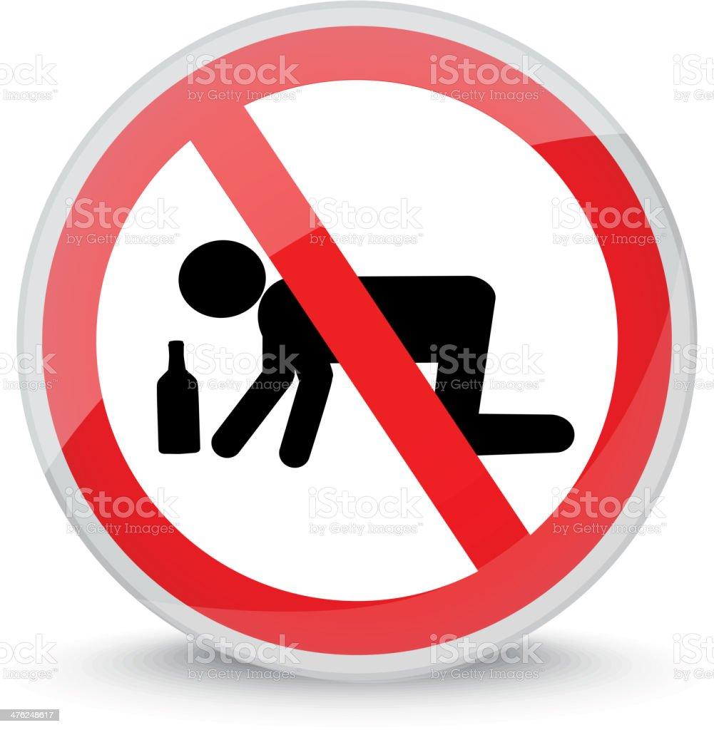 Stop Alcoholism! vector art illustration