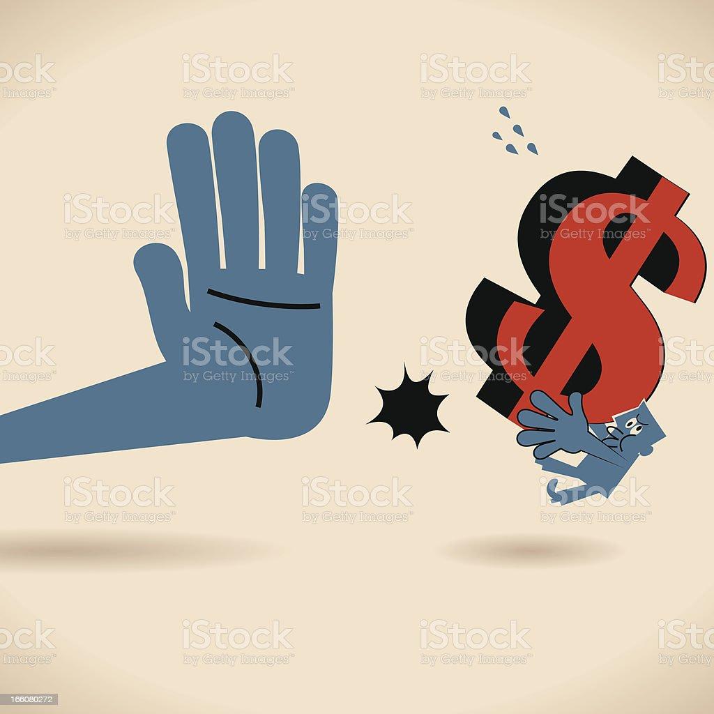 Stop Bribe vector art illustration