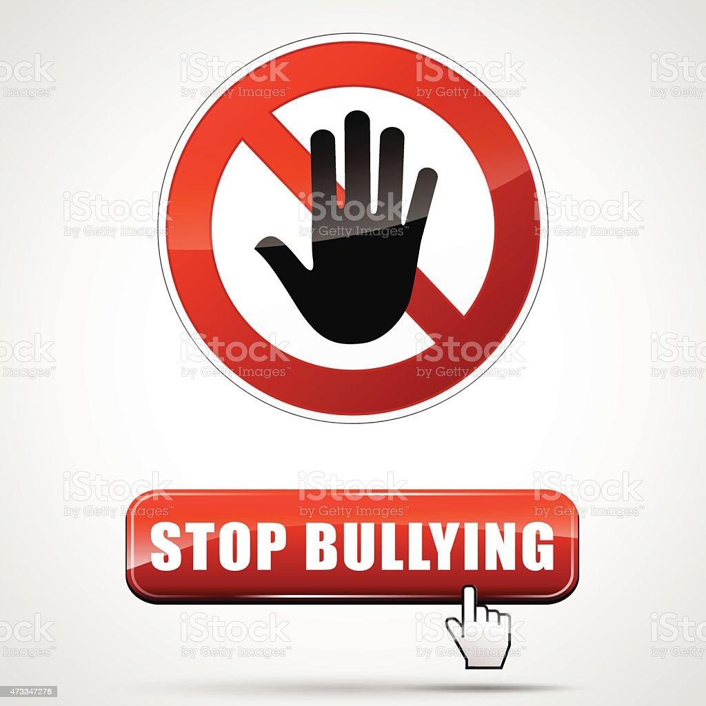 stop bullying vector art illustration