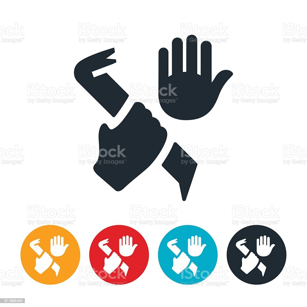 Stop Crime Icon vector art illustration