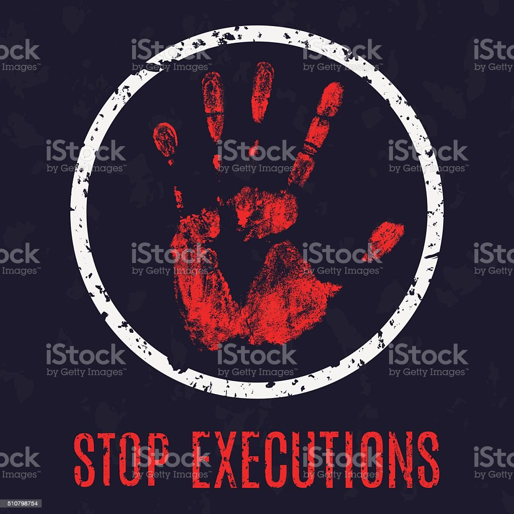 stop execution vector art illustration