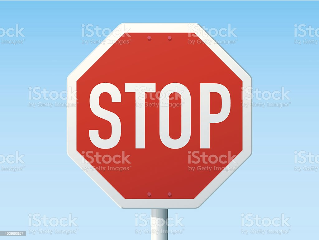 Stop German Road Sign vector art illustration