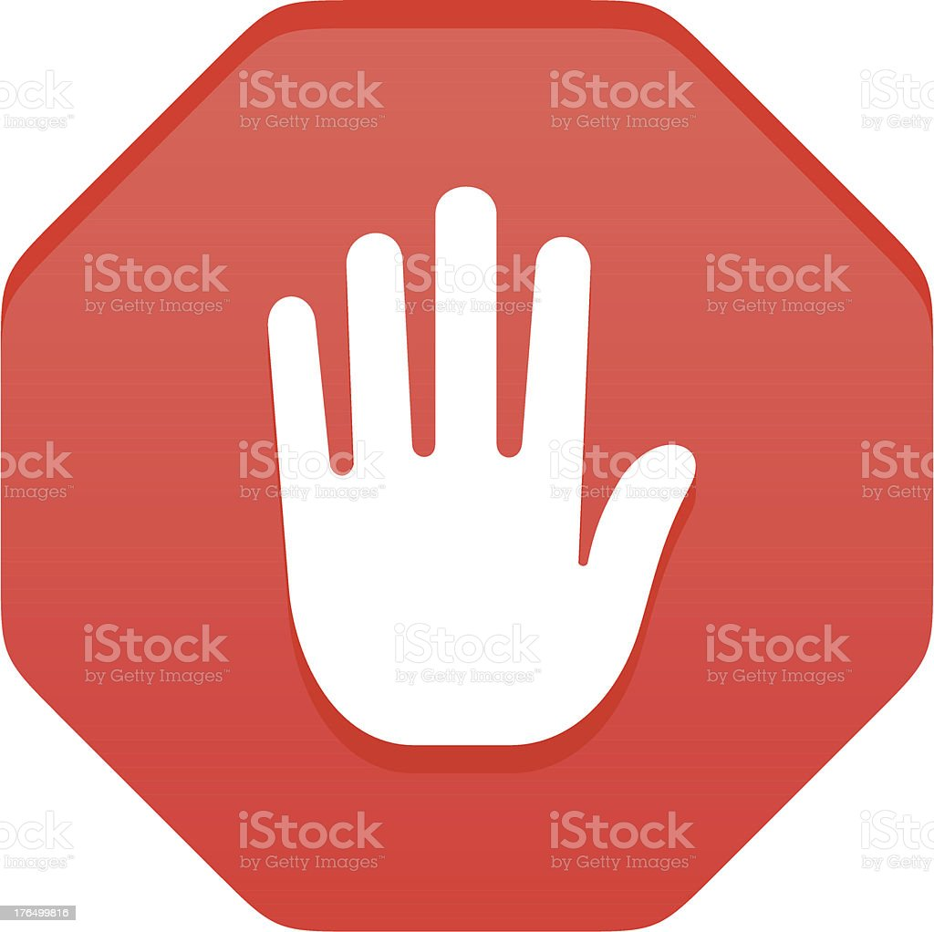 Stop gesture sign vector art illustration