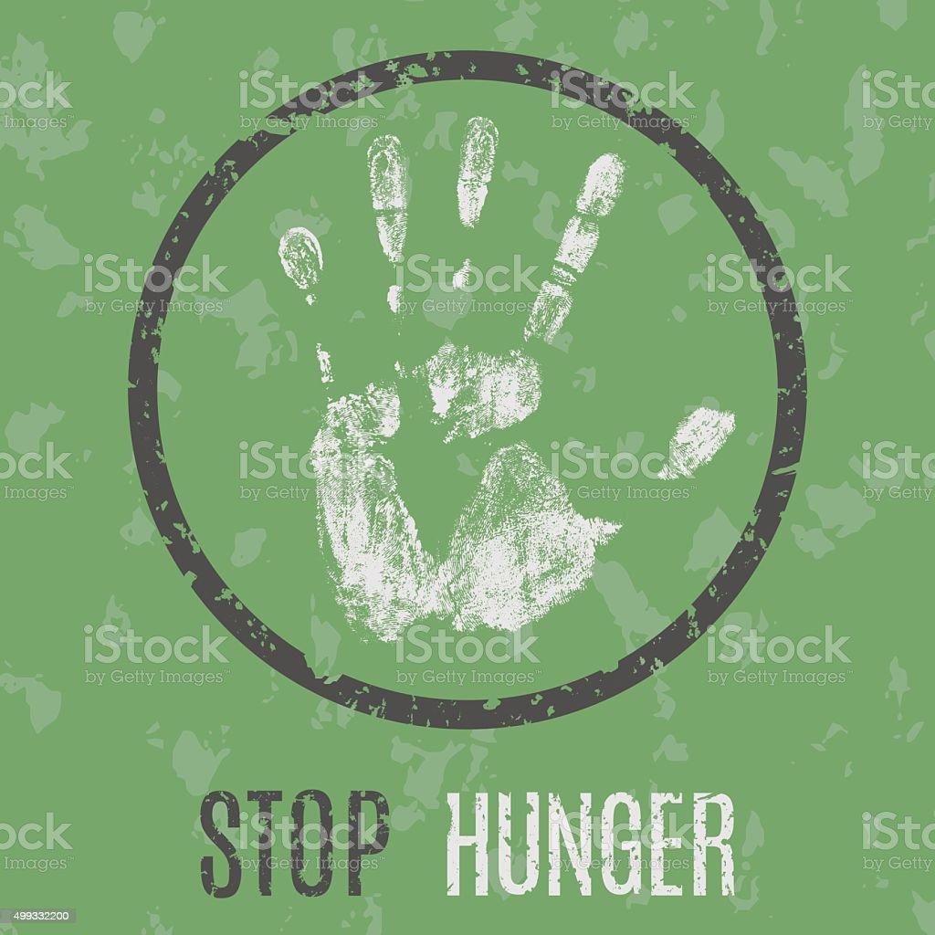 stop hunger vector art illustration
