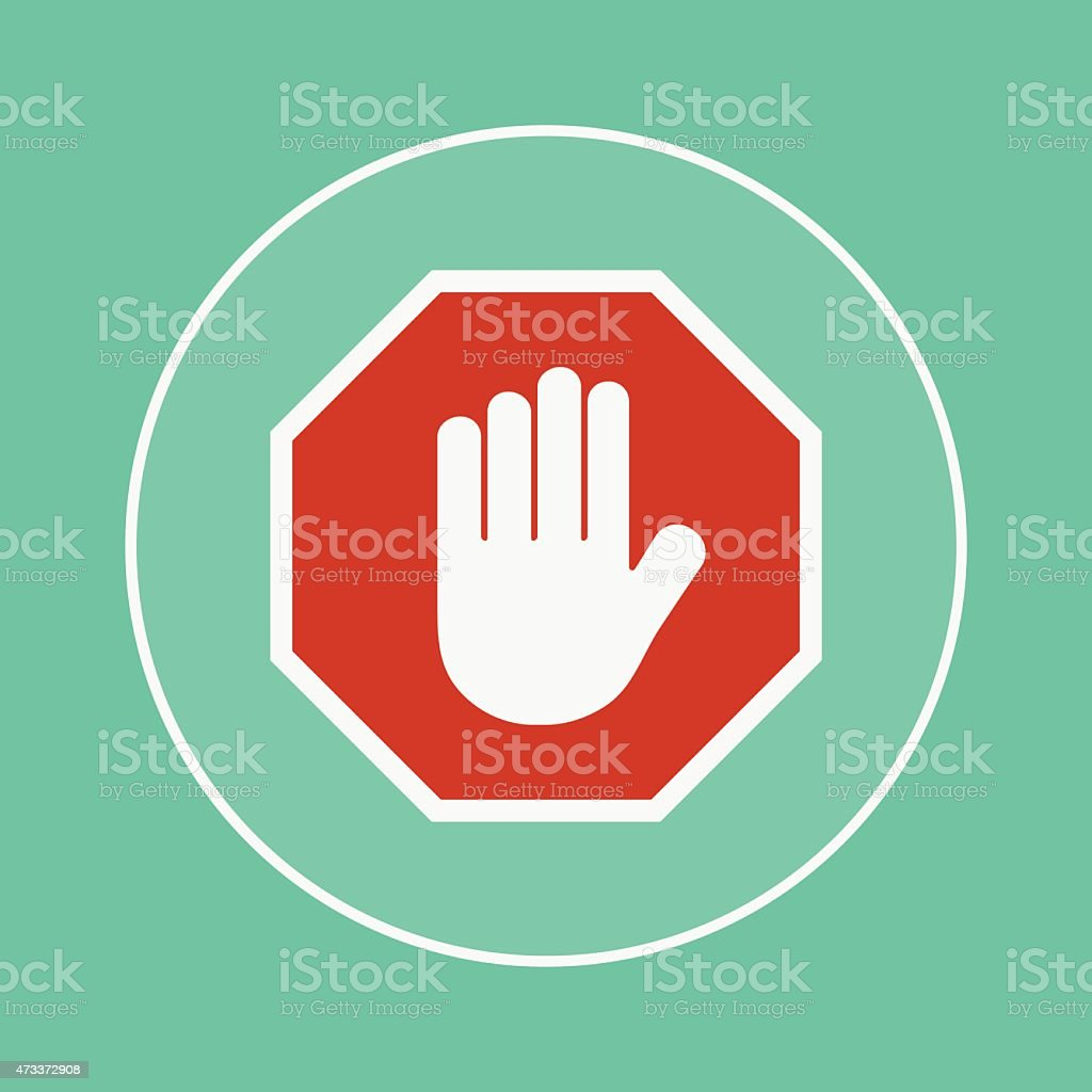 stop icon vector art illustration