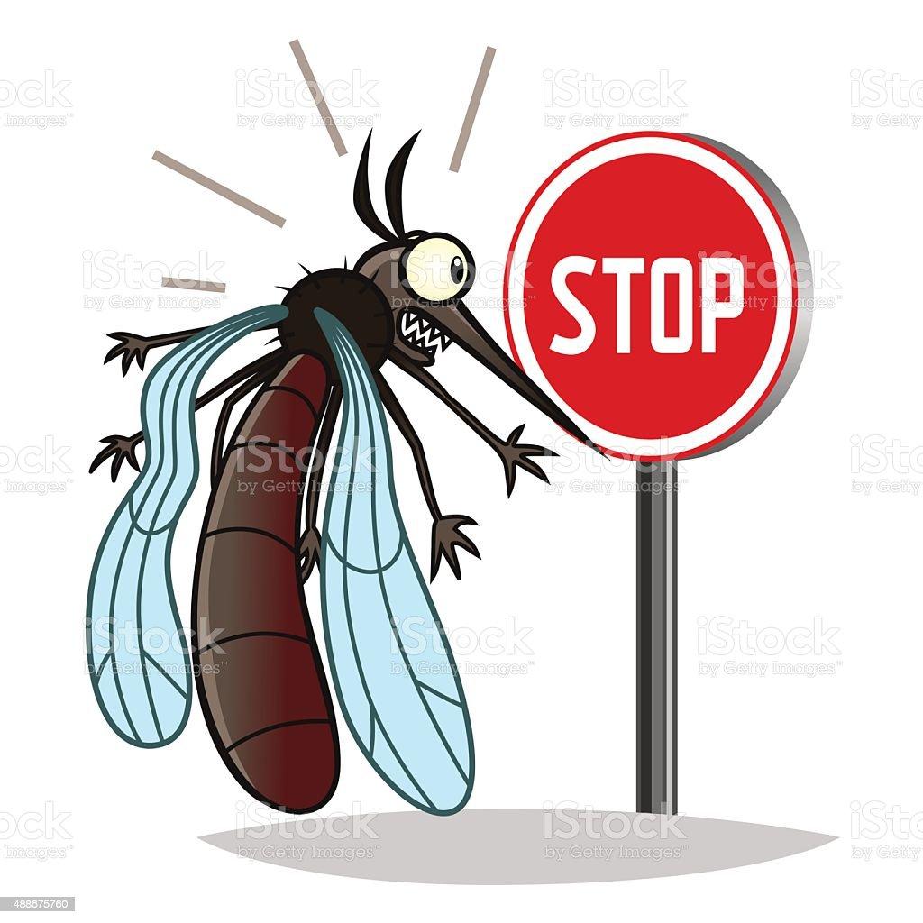 Stop mosquito vector art illustration