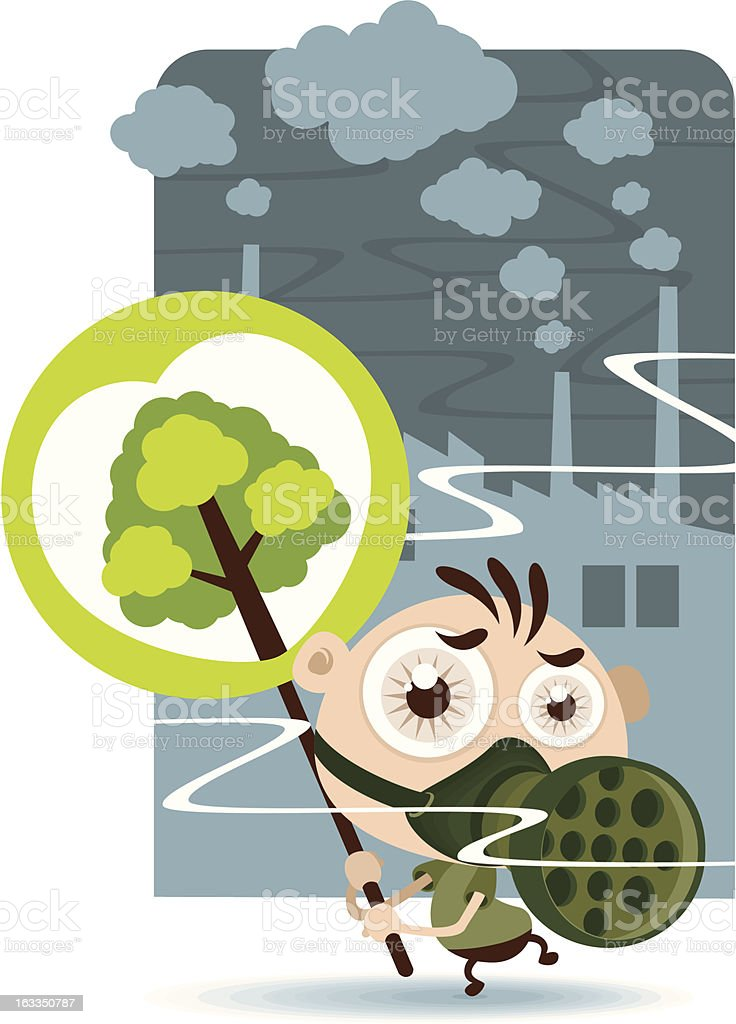 Stop Pollution royalty-free stock vector art