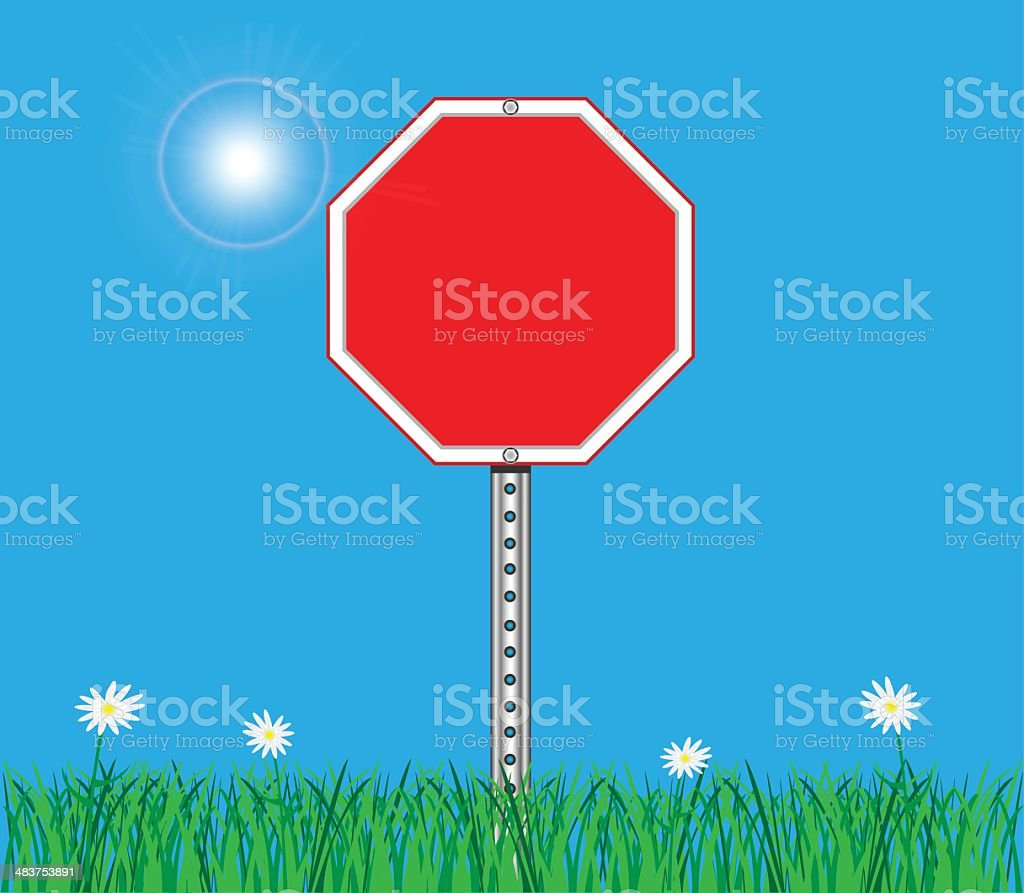 Stop Sign Background royalty-free stock vector art