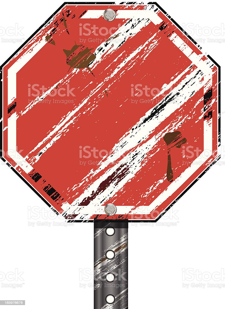 Stop Sign | Blank Grunge royalty-free stock vector art