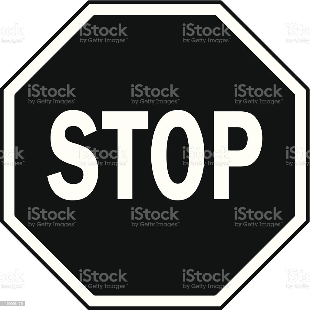 Stop Sign Icon vector art illustration