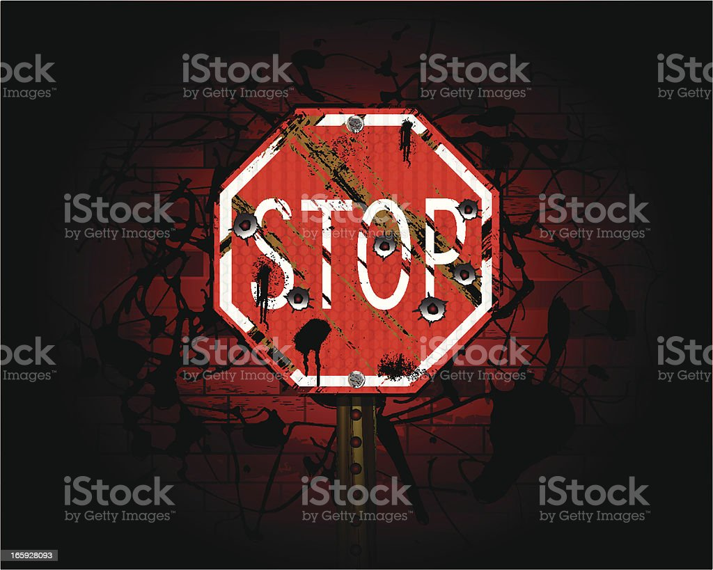 Stop Sign | Urban Grunge Background royalty-free stock vector art