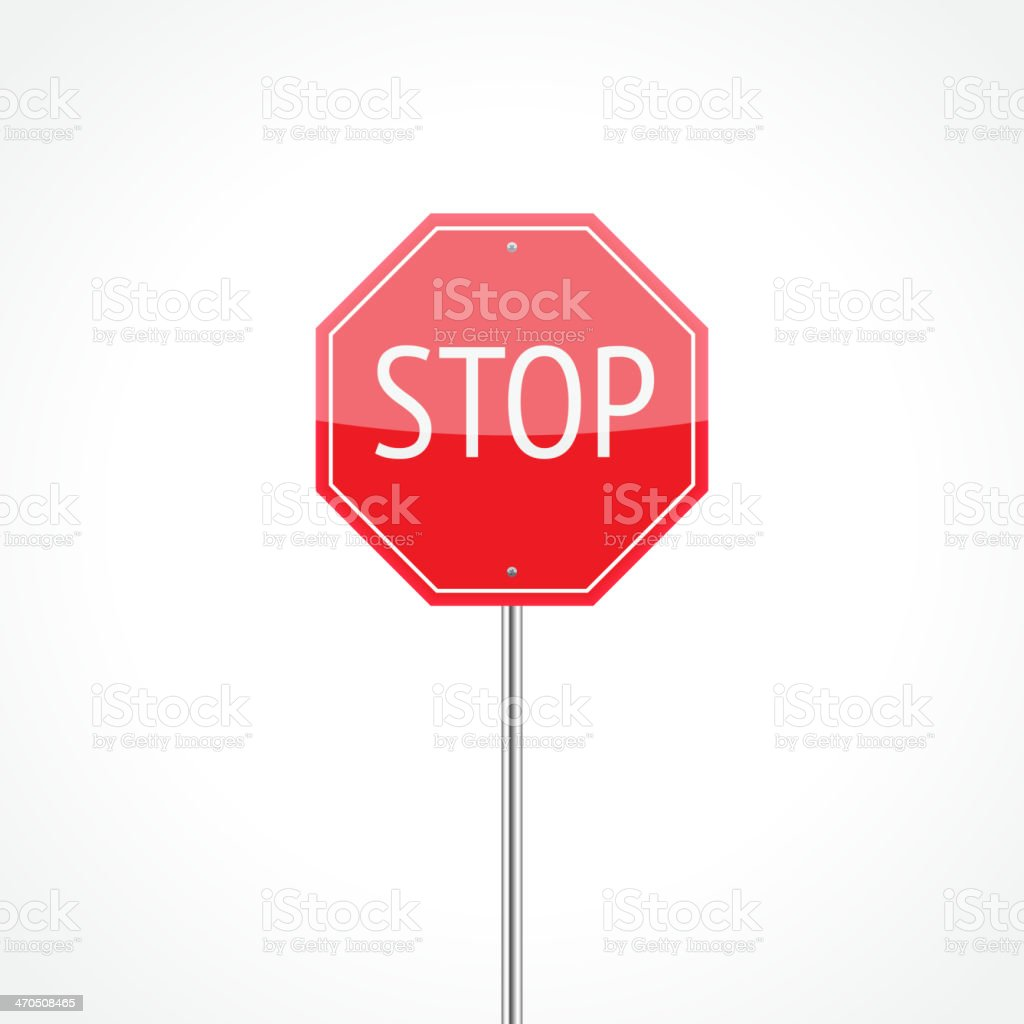 Stop sign royalty-free stock vector art