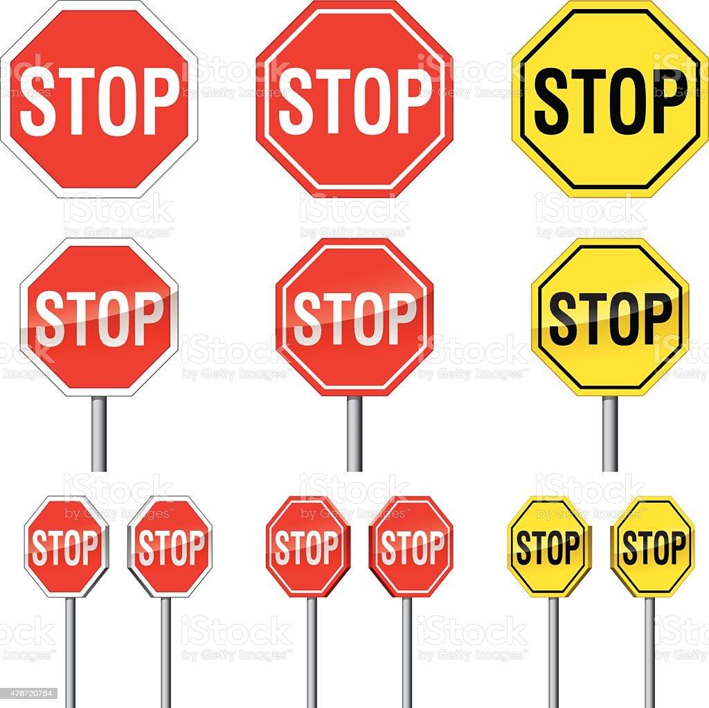 Stop sign vector art illustration