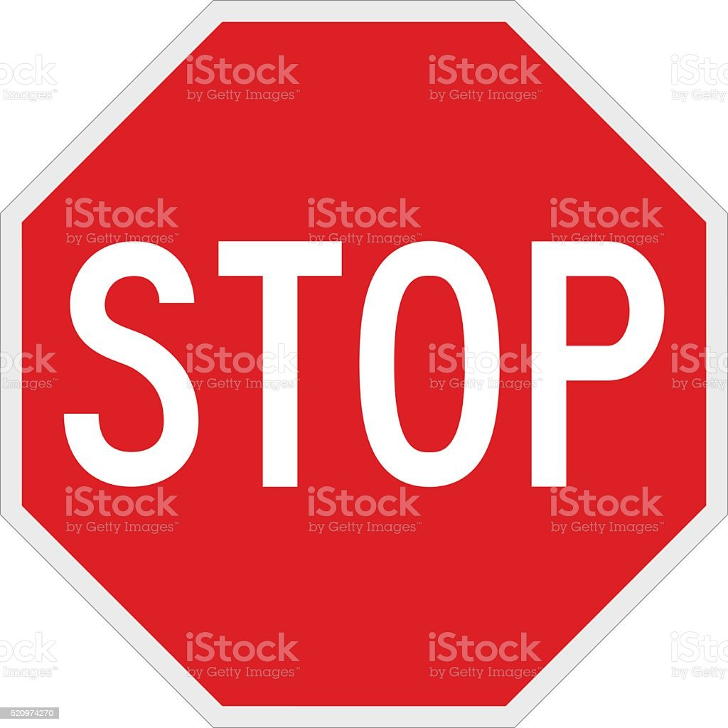 Stop Sign vector art illustration