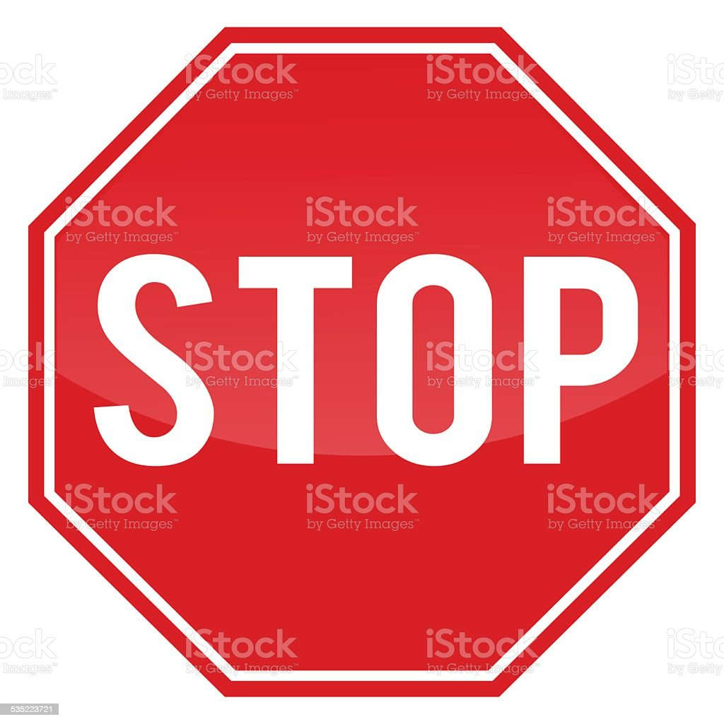 Stop sign. vector art illustration