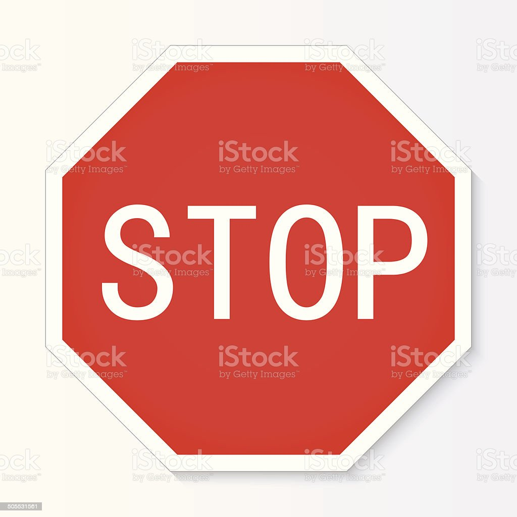 Stop sign vector illustration vector art illustration