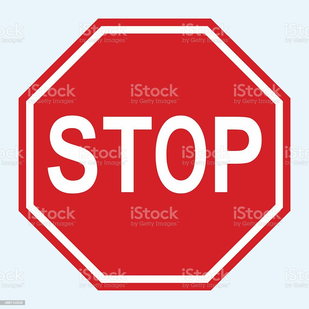 Stop Sign Vector vector art illustration