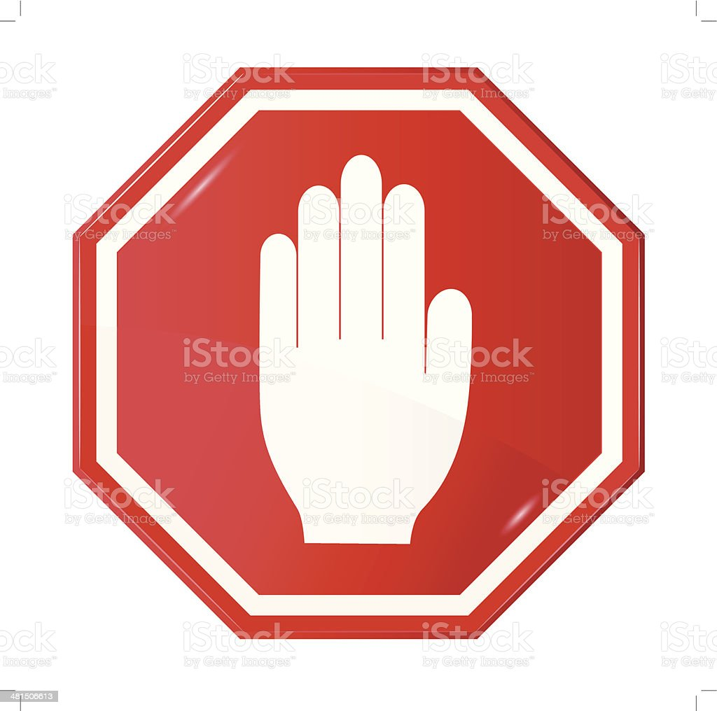 stop signal,  sign vector art illustration