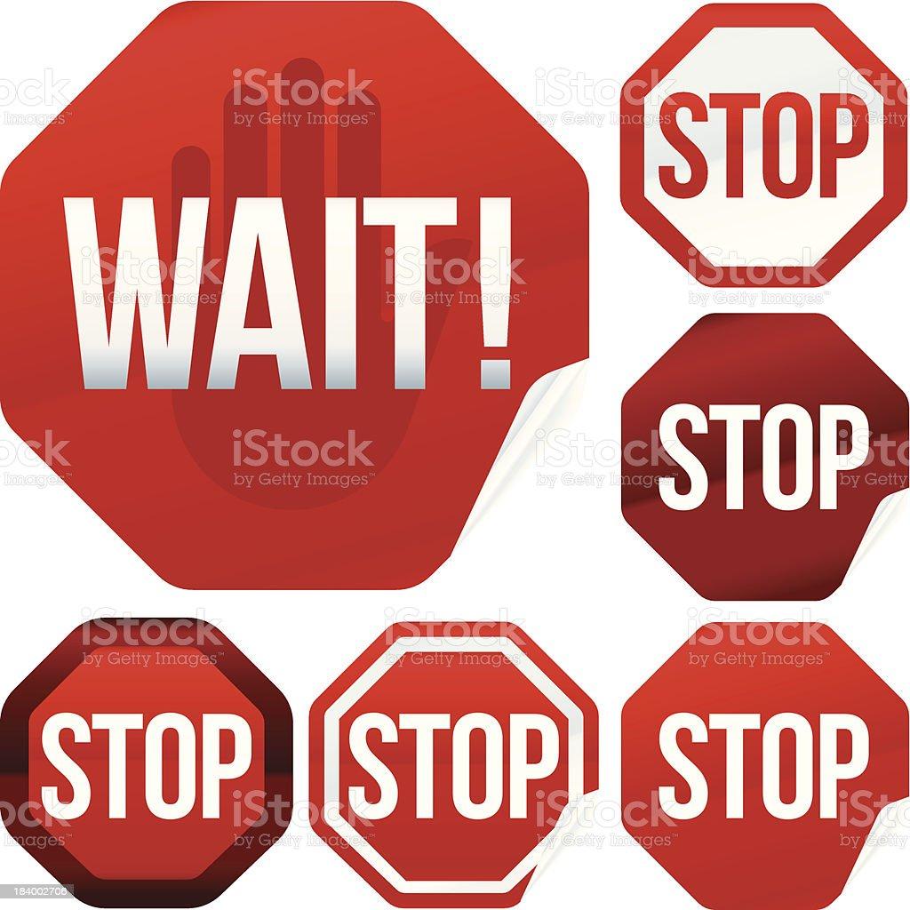 stop signals royalty-free stock vector art