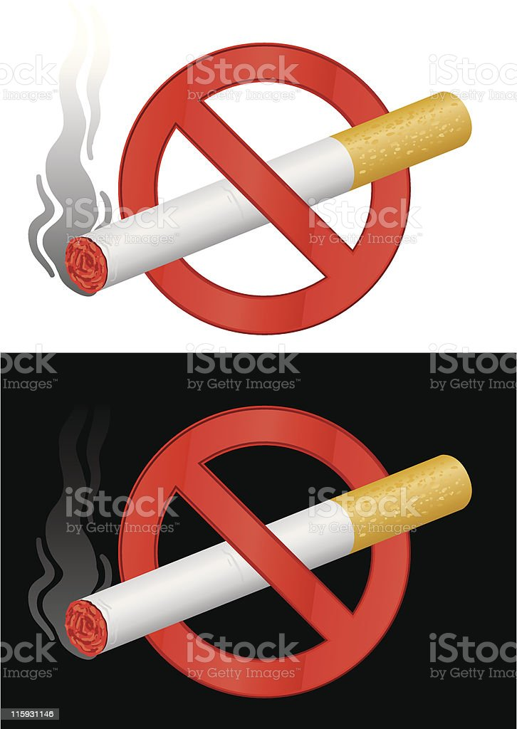 stop smoking royalty-free stock vector art