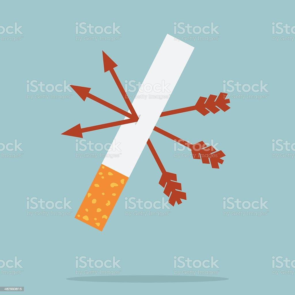 Stop Smoking royalty-free stock vector art