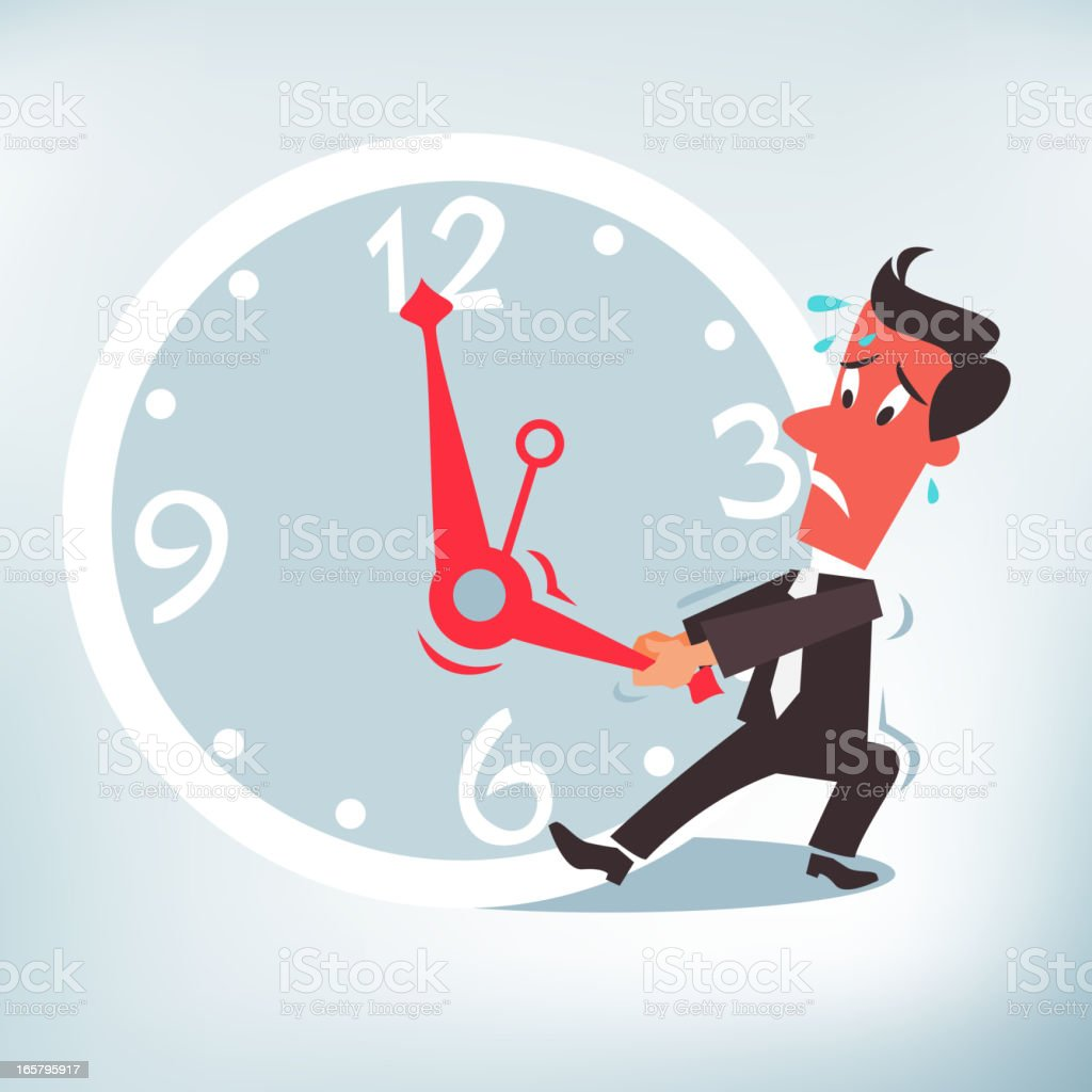 Stop the Clock royalty-free stock vector art