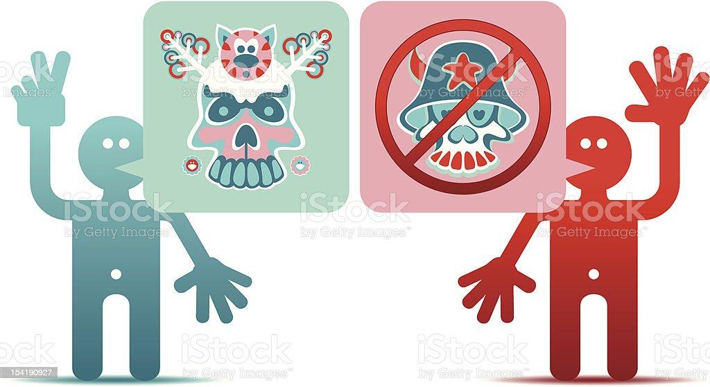 Stop the war vector art illustration