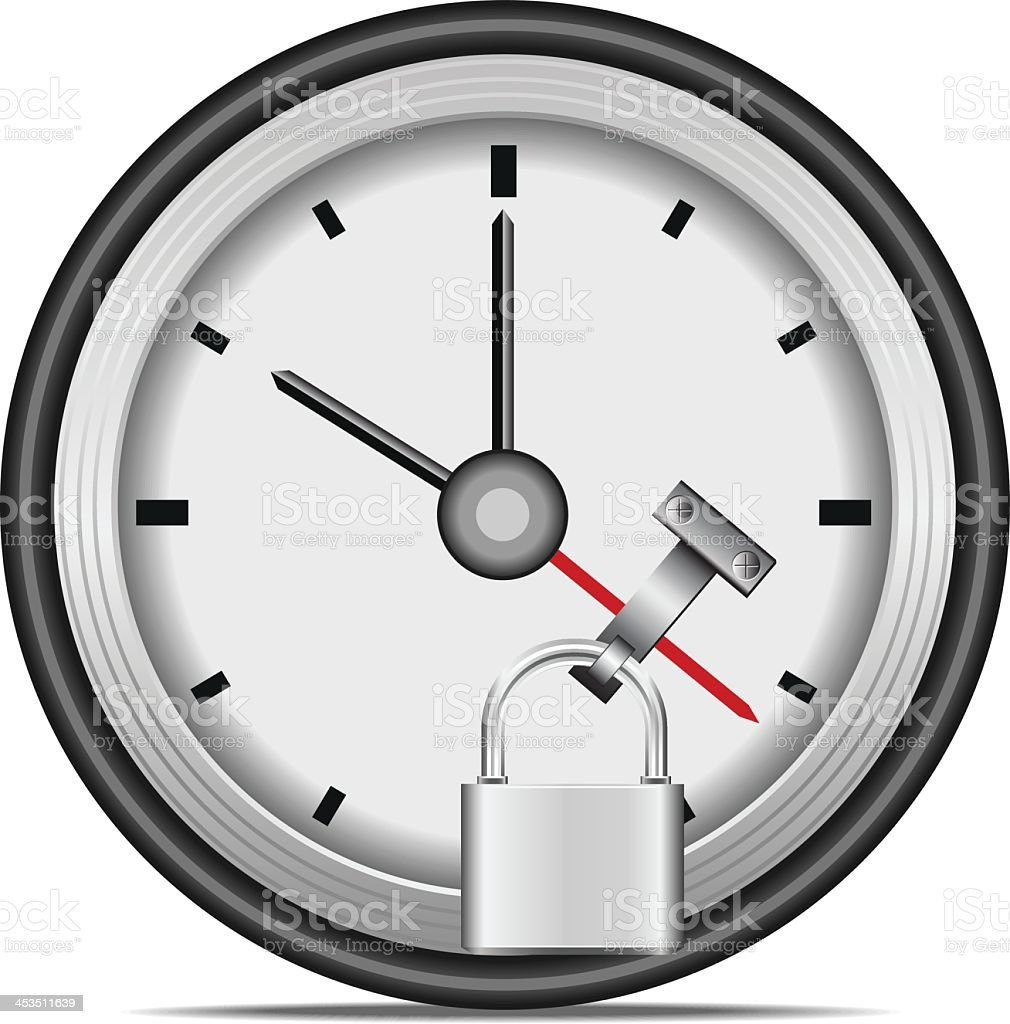 Stop time royalty-free stock vector art