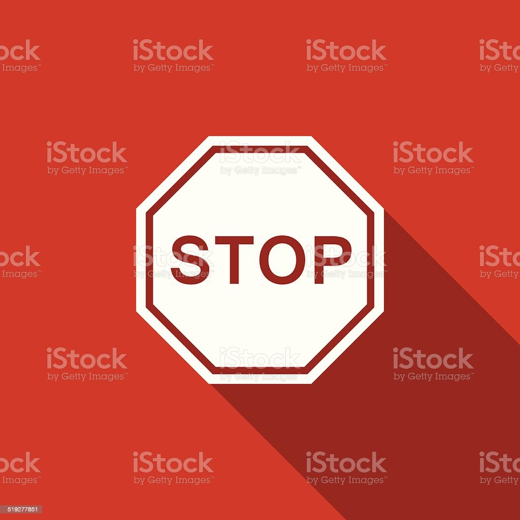 stop traffic sign icon vector art illustration