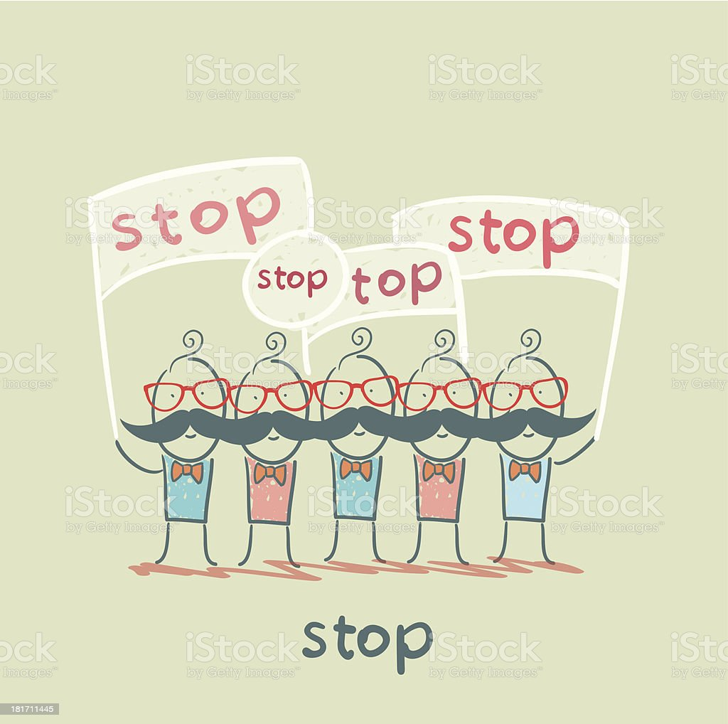 stop royalty-free stock vector art