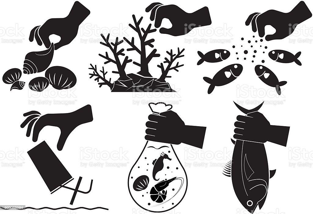 Stop vector art illustration