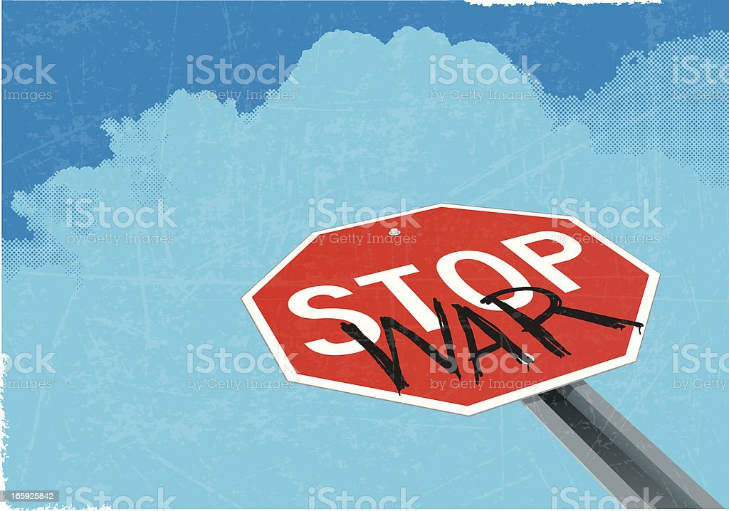 Stop War Background - Conceptual Sign vector art illustration