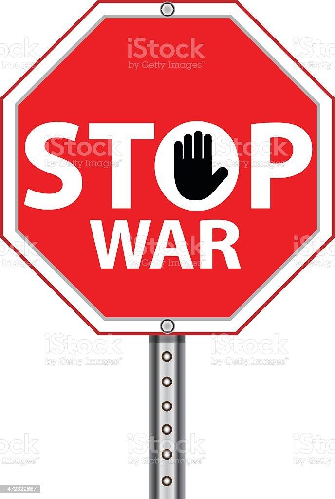 Stop War Sign vector art illustration