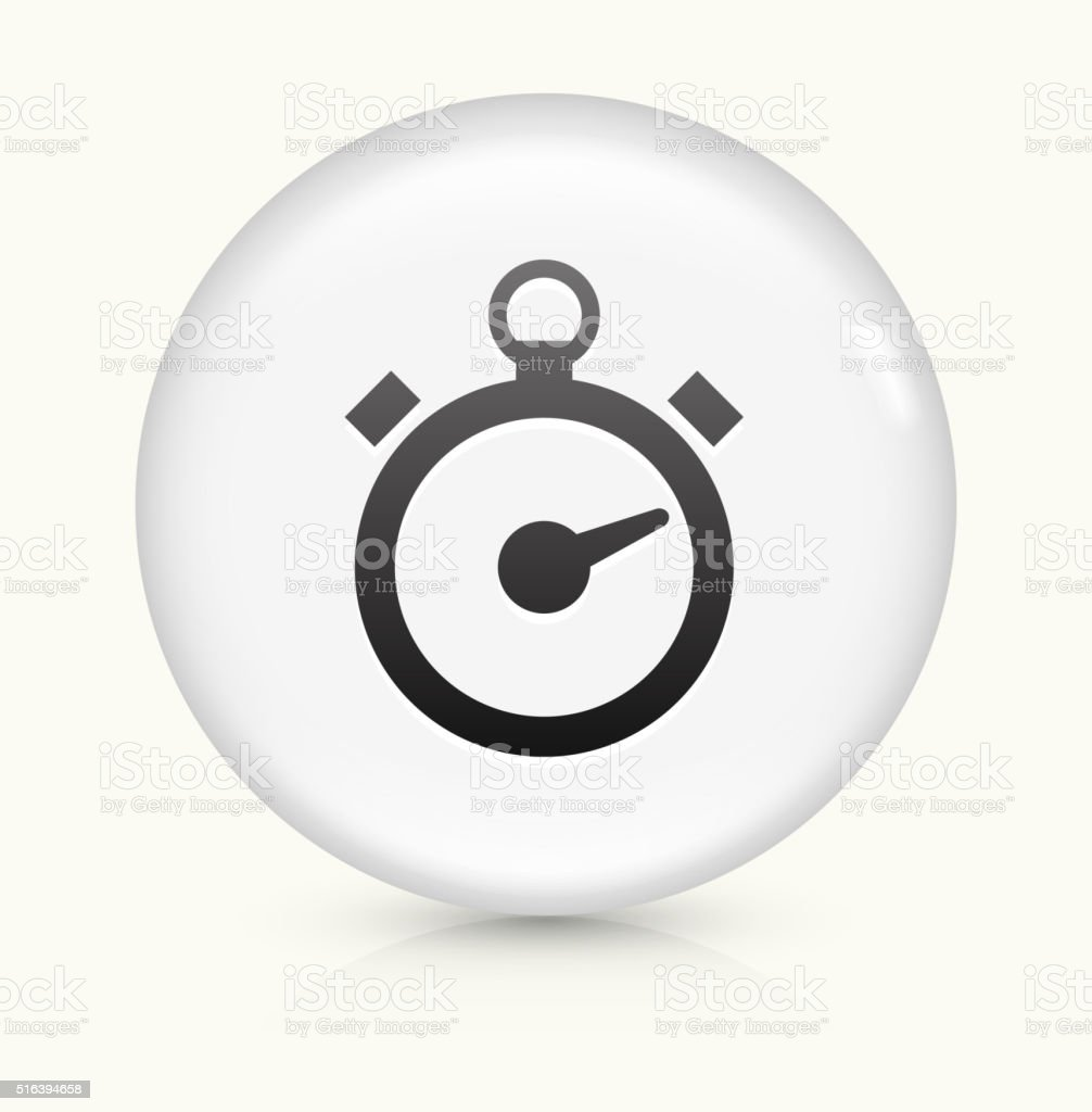 Stop Watch icon on white round vector button vector art illustration
