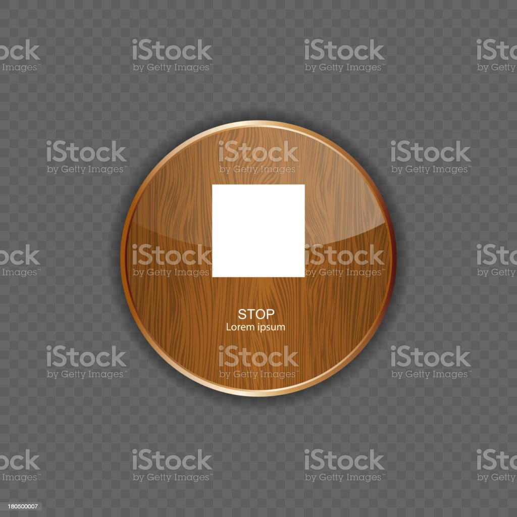 stop wood application icons royalty-free stock vector art
