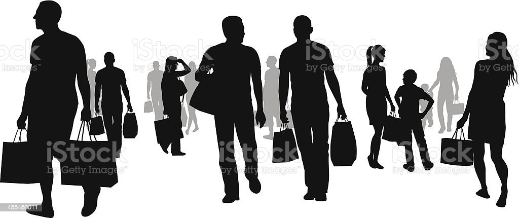 Stoppin Shoppin Vector Silhouette royalty-free stock vector art