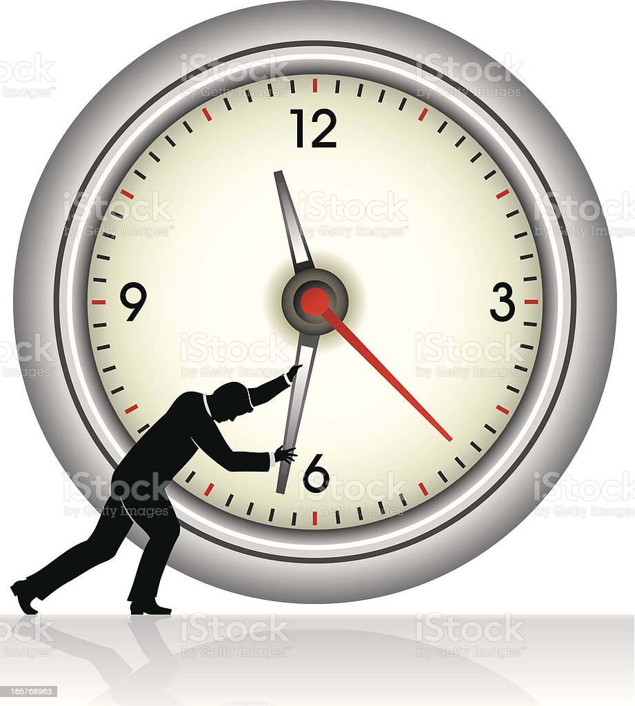 Stopping Time royalty-free stock vector art