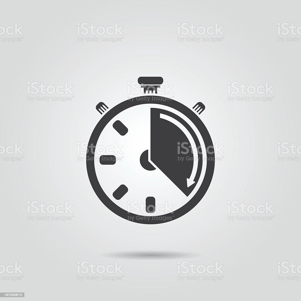 Stopwatch icon vector art illustration