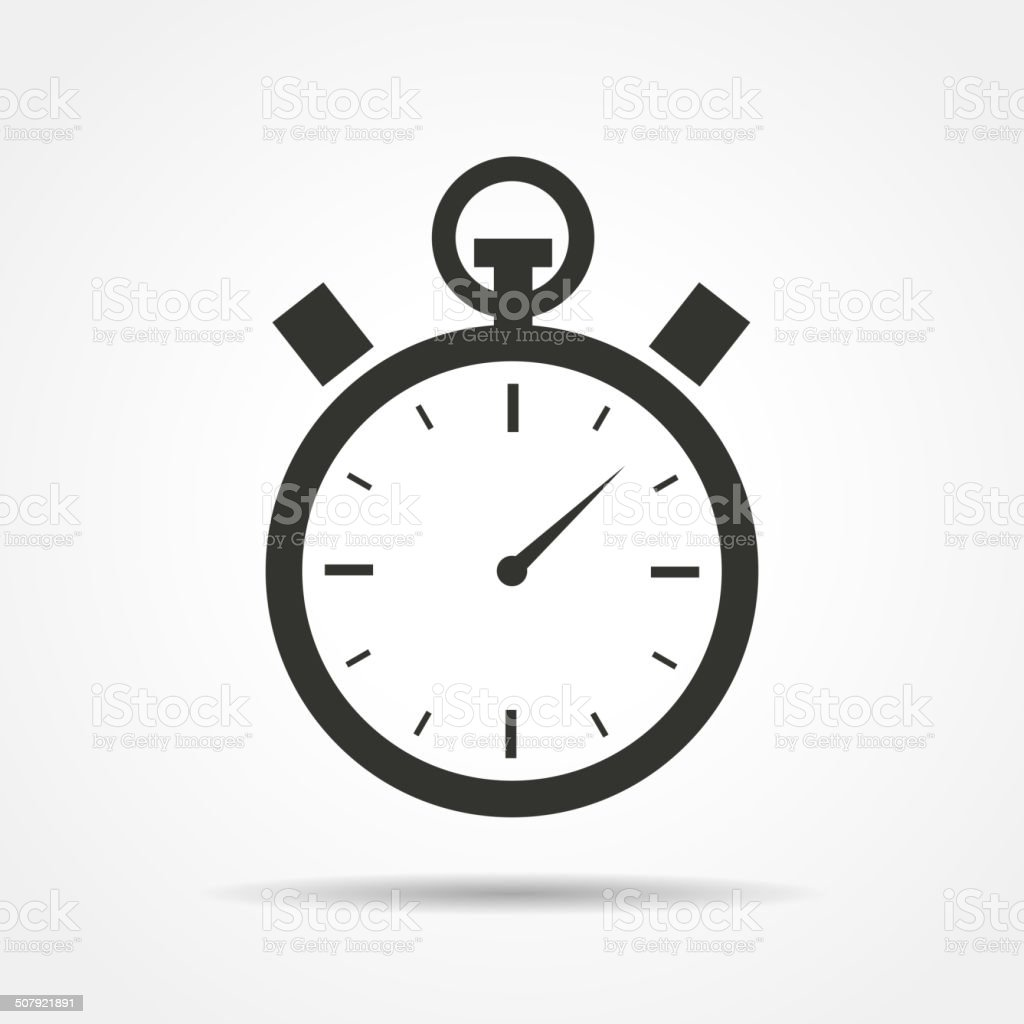 Stopwatch icon vector art illustration