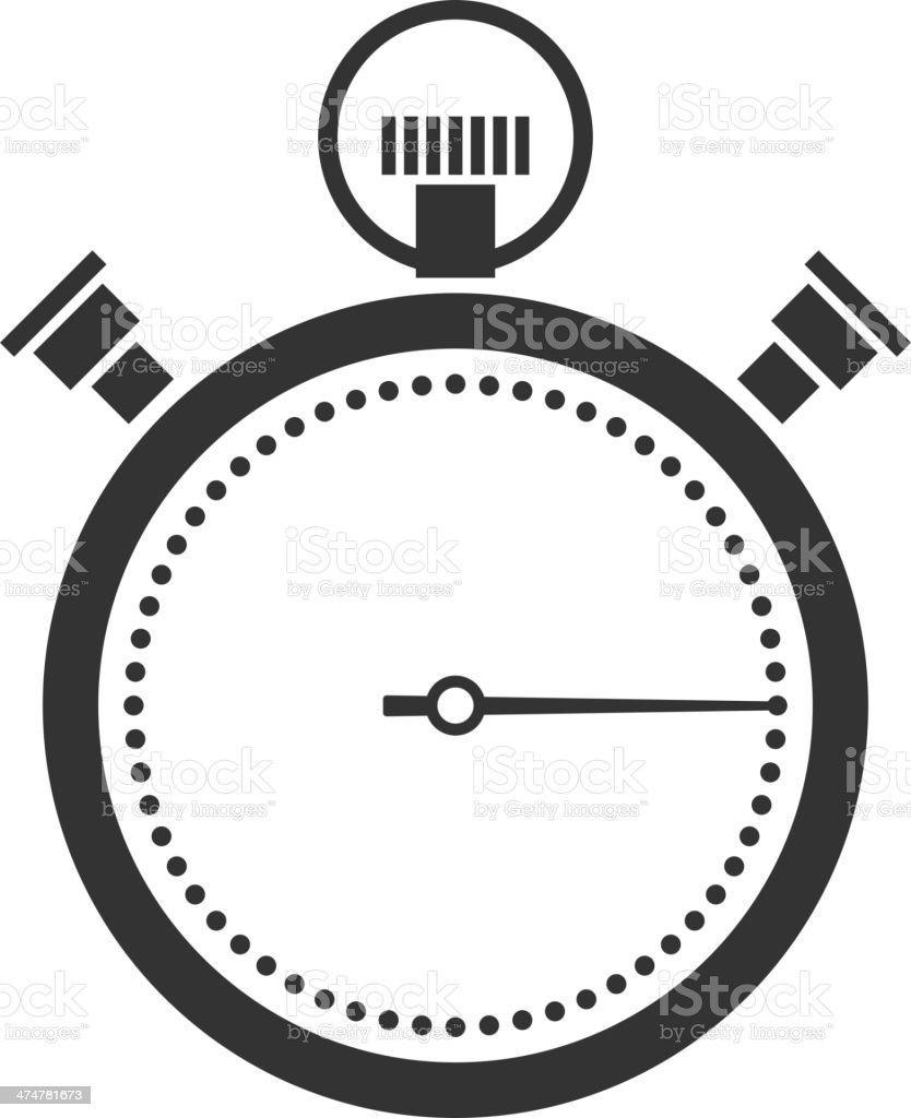 stopwatch or chronometer icon vector art illustration