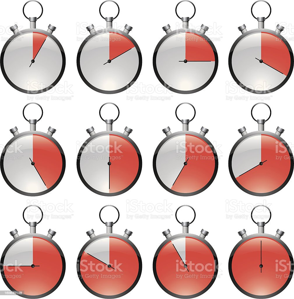 Stopwatch red royalty-free stock vector art
