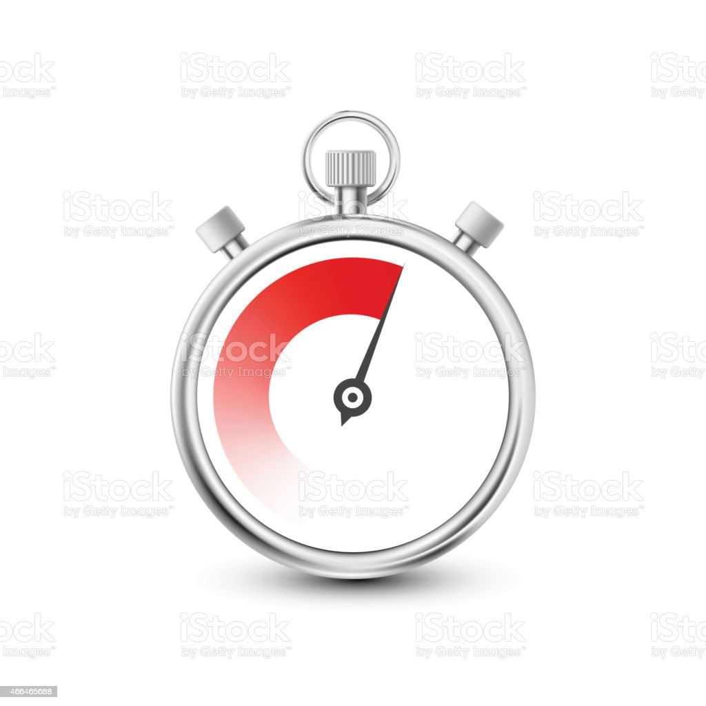 Stopwatch to measure time intervals vector art illustration
