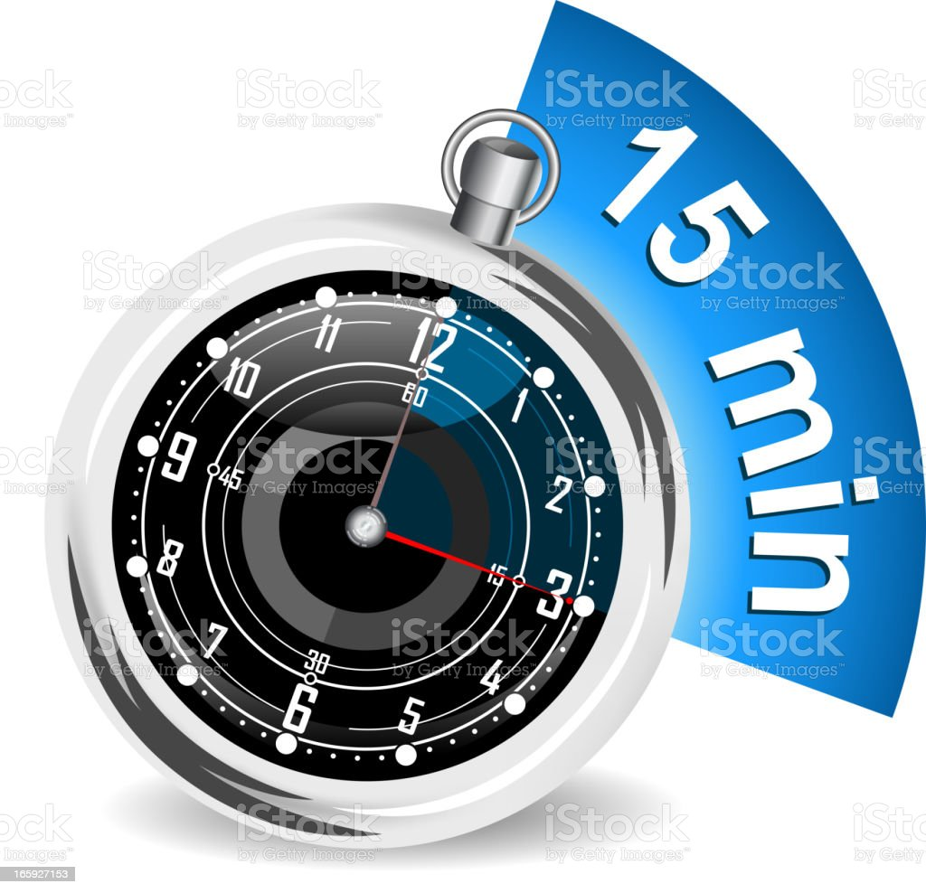 stopwatch royalty-free stock vector art