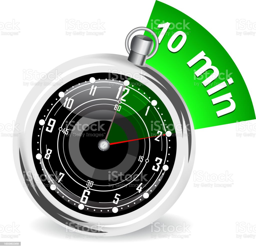 stopwatch vector art illustration